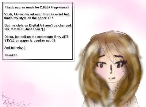 Thank You So Much For 2,000+ Pageviews!! by Kana-Ancheta
