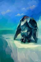 Metal Penguin - Father and Son by zgul-osr1113