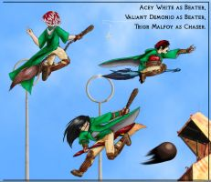 Slytherin Quidditch by trossidevil