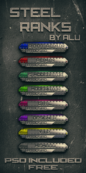 STEEL RANKS - FREE (INCLUDES PSD) by ArtieFTW