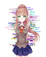 monika from doki doki literature club by mmk505