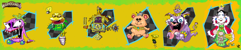 Pyramid Guardians- The Bosses of Wario Land 4 by NickProlArt