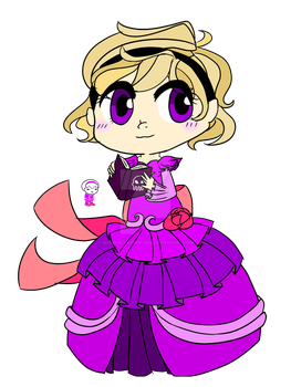 Chibi Fancy!Derse Rose by genuinelyTerrifying