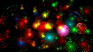 Christmas baubles and stars by BGai