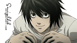 L (Death Note) render 2 by samizoldek