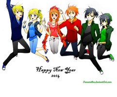 Ppgz And Rrbz: Happy New Year 2014 by faramitha