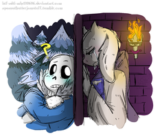 SansxToriel: Will you not? by HTF-ADTI-MLP100606