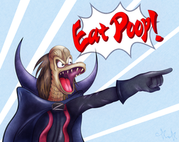 Ziltoid: Eat Poop! by gagaman92