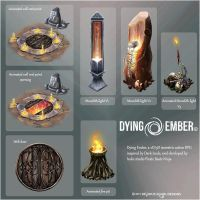 Dying Ember assets by DeviousSqurl