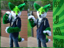 Comission fursuit - Jam the fox/fennec by RaviTheBlueTiger