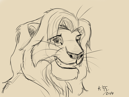 [sketch] Adult Simba - 2 by kosko99
