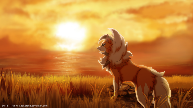 =Pokemon= Dusk Lycanroc by LeoKatana