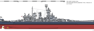 USS Washington BB-56 (September 1942) - Measure 22 by ColosseumSB