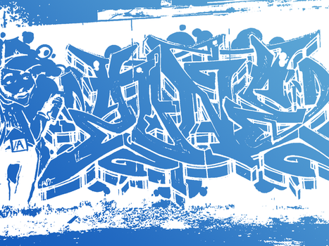 Blue_Graffiti by Bob-the-Cat