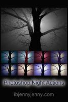 Free Photoshop Night Actions by ibjennyjenny