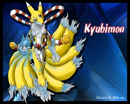 kyubimon colored pic by mike-son
