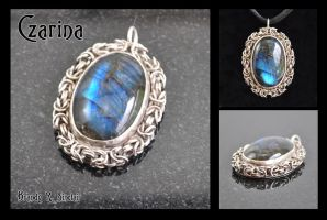 Czarina - Mailled Gem Pendant by crazed-fangirl