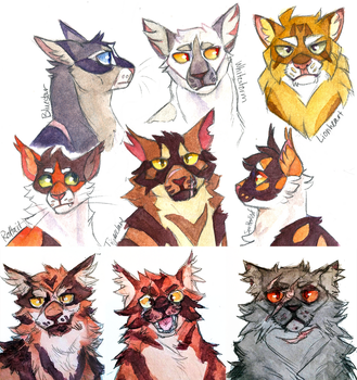 canon warrior cats by ghostflannel