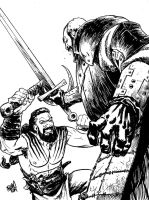 The Mountain VS Khal Drogo by ADAMshoots