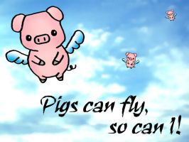 Pigs can fly... by cookiesncream