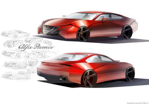 Alfa Gran Coupe by braver-art