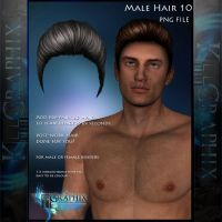 Male Hair 10 Painted Instant hair PNG add on stock by MakeMeMagical
