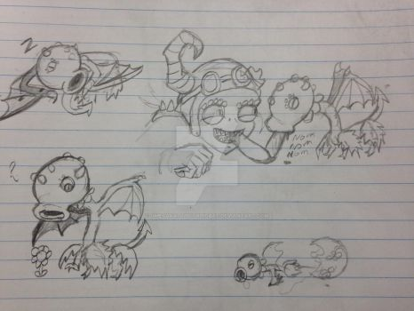 Hiccup Doodles by OmegaKaijuScorpioBat