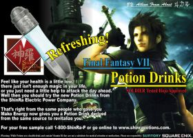 FFVII Potion Drinks Mailer by Albino-From-Abouut