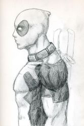 Deadpool Portrait WIP by Lord--Osis