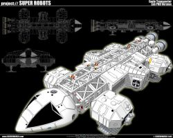 Space 1999 Eagle Transporter 2 by cosedimarco