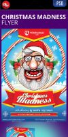 Christmas Madness Flyer Template by doghead