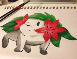 Pokemon-Shaymin Painting by Loki-Targaryen