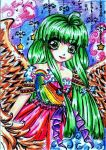 ++RAINBOWANGELS_ORANGEWINGED++ by ladybluematrix