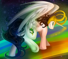 Upon the Bifrost by KayzioMau