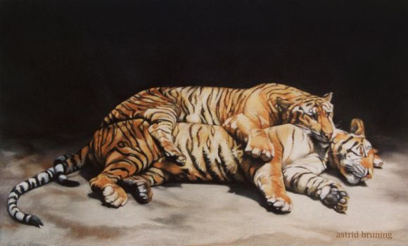 The Lovers - Pastel Painting by AstridBruning