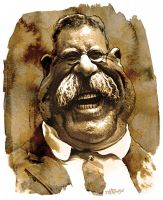 Theodore Roosevelt by wooden-horse
