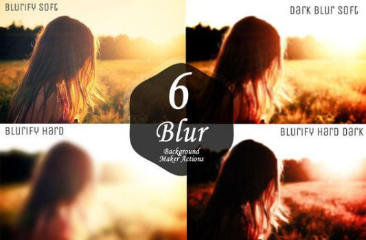 6 Blurred Background Maker Photoshop Actions by symufa