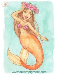 Hibiscus Mermaid - MerMonday July 16th 2018 by DreamPigment