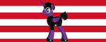 The new pony character  and Arpad flag by Wakko2010