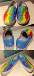 rainbow dash vans customs by SweetStrokesStudios