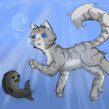 Swimming Silverstream by Littlewadles