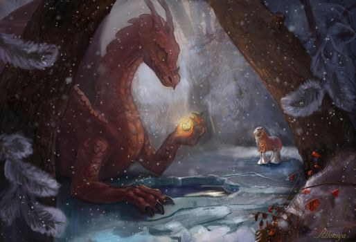 Snowhorse and the Dragon by Alloniya