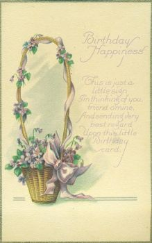 Birthday Happiness Violets by Yesterdays-Paper
