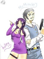 Holley and McMissile by RoronoaxPhantom