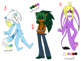 Sonic Male Adoptables 1 by SilverfanNumberONE