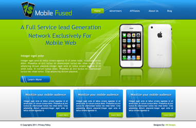 Web design for mobile website by waqaskhan766