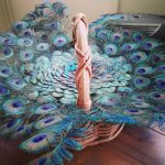 Peacock basket by ellejayess