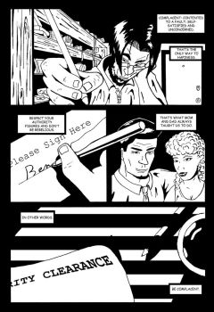 Pyschosis Page 1 BW by combat-artist
