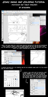 Comic Line and Color Tutorial by Kyasarin-angel