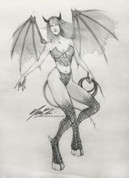 Succubus Sketch | WoW inspired by NaamahVonhell